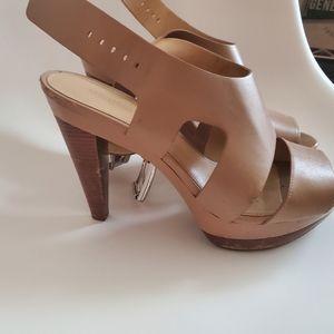 Michael kors leather platform sandal